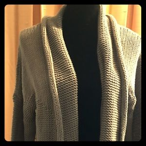 Cozy Nine West grey knit cardigan XL